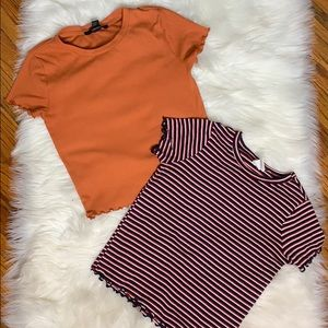 2 ruffle tops from Forever 21 (Selling together)